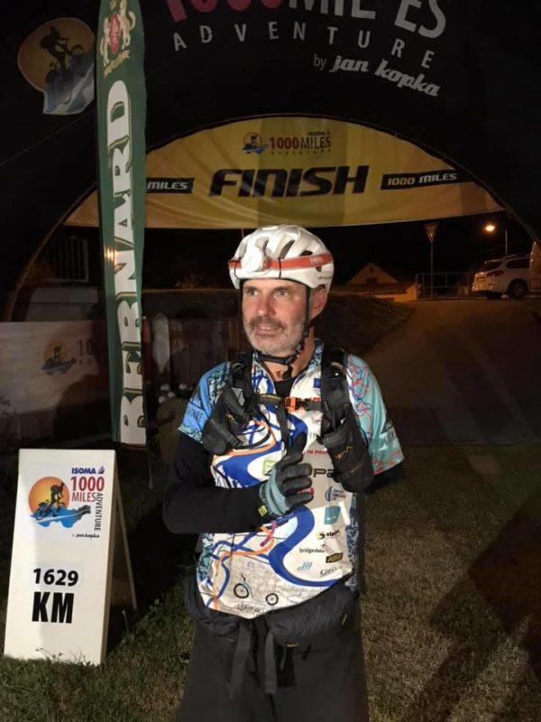 Richard Štěpánek v cíli 1000 miles