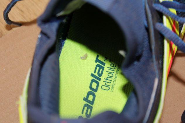 vyjímatelná vložka ortholite v tenisových botách Babolat Propulse Rage Clay