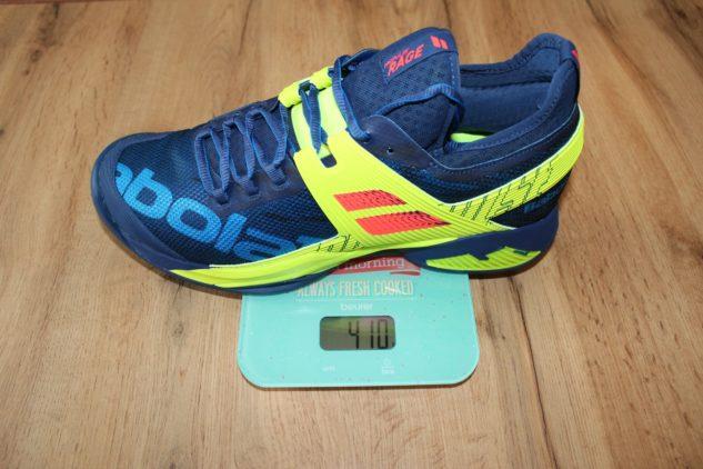 hmotnost tenisové boty Babolat Propulse Rage Clay