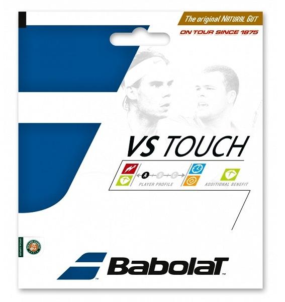 Přírodní struny Babolat VS Touch jsou ve světě tenisu už od roku 1875.