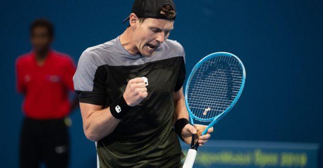 Tomáš Berdych s raketou Head Graphene 360 Instinct MP válí na Australian Open