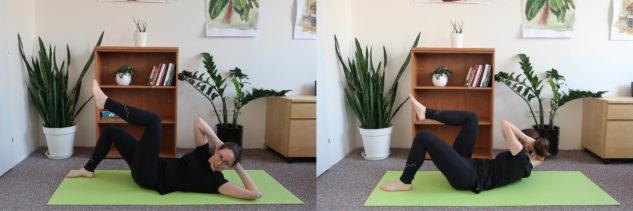 Posilování šikmých břišních svalů