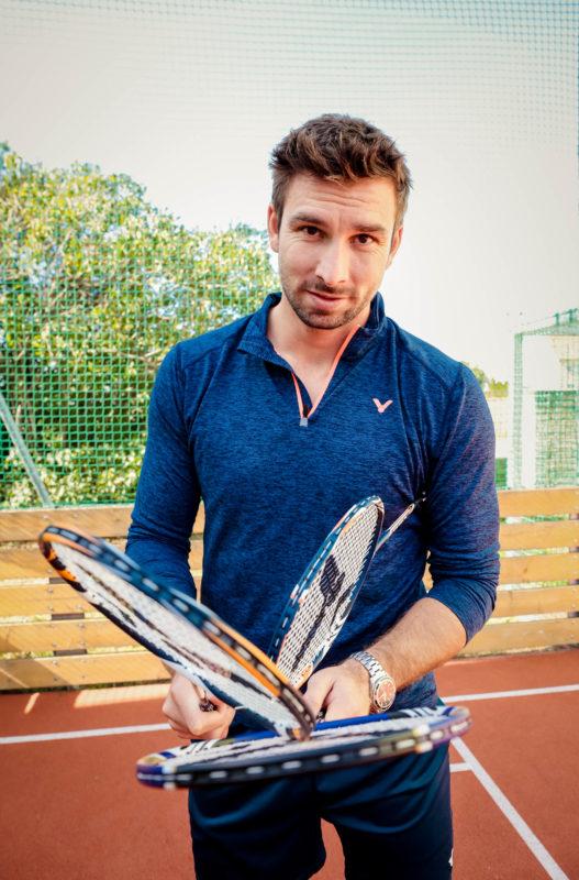 Petr Koukal s vlastní edicí badmintonových raket