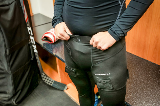 Kalhoty se suspenzorem WinnWell Compression