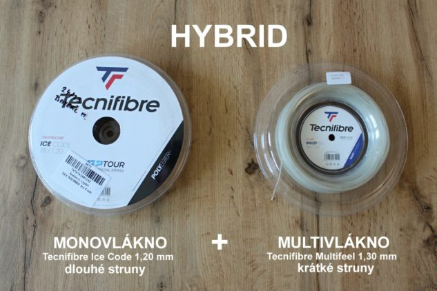 Hybridní výplety si složíte sami třeba z monovlákna a multivlákna.