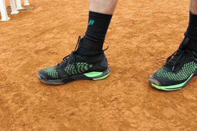 Pohled na tenisové boty Wilson Amplifeel 2.0 Clay zevnitř