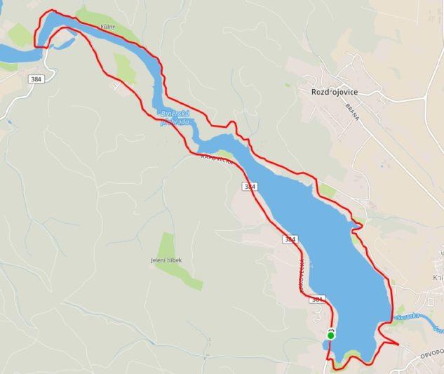 Mapa trati závodu