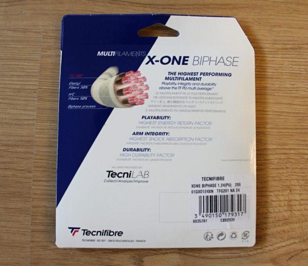 Tenisový výplet Tecnifibre X-One Biphase je jedním z nejlepších multivláken.