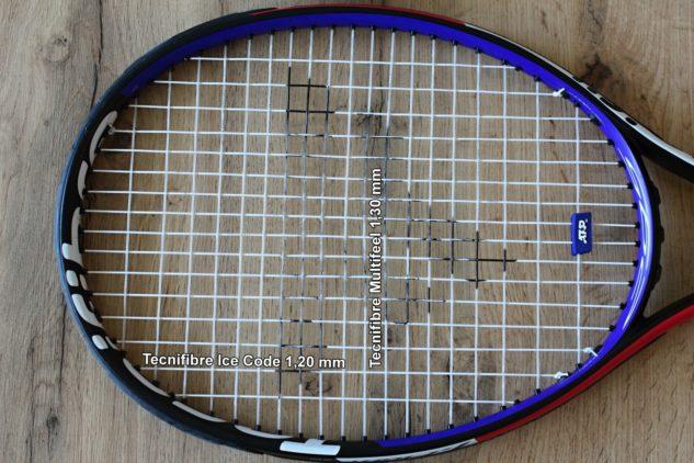 Tip na jeden příklad, jak si složit hybridní tenisový výplet vlastním výběrem strun.