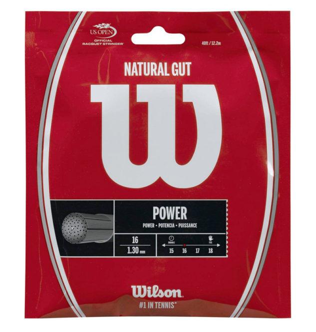 Jedním z doporučených přírodních výpletů je Wilson Natural Gut.