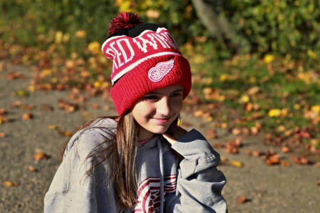 Zimní čepice s bambulí '47 Brand pro fanoušky Detroit Red Wings