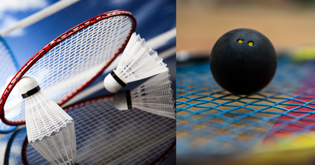 Badmintonové a squashové dárky