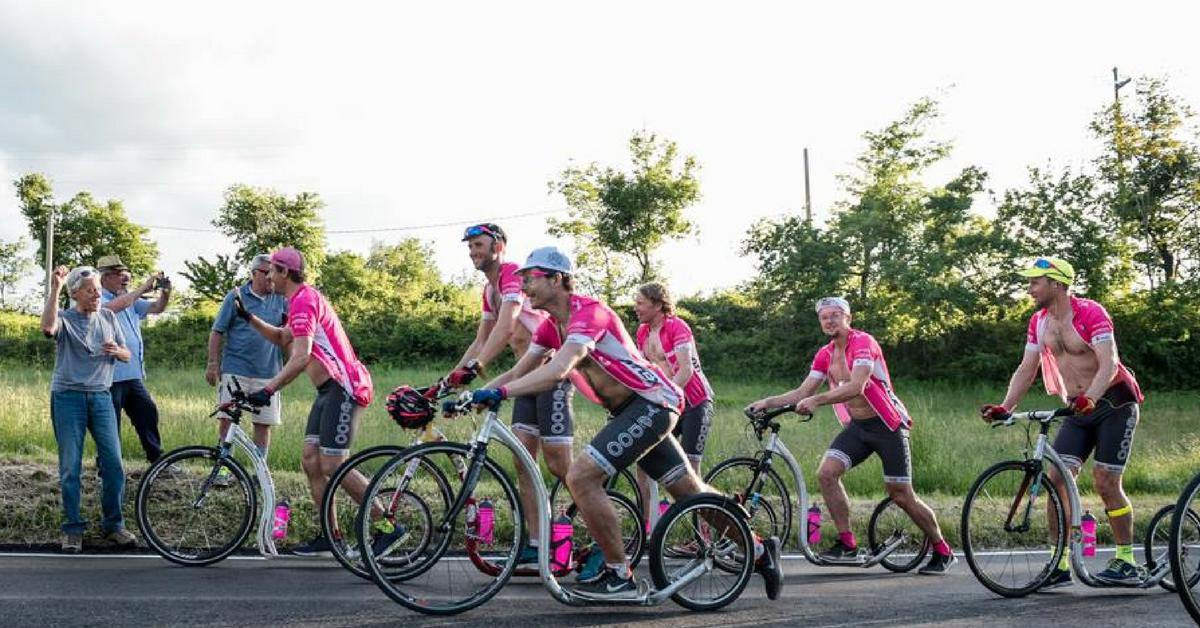 Koloběžky Kickbike při expedici na Giro d'Italia