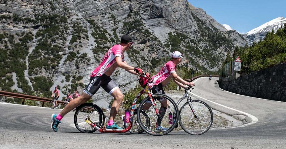 Koloběžky Kickbike se účastnily i cyklistického závodu Giro d'Italia