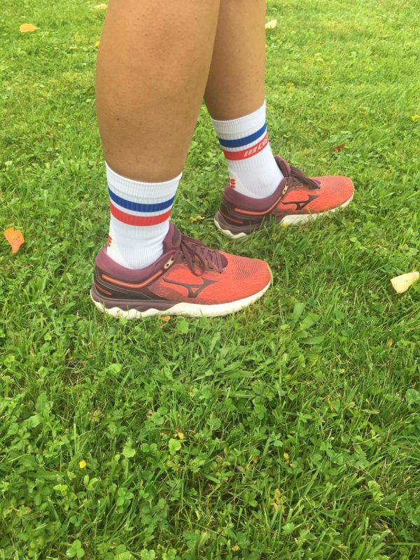 Všimnout si můžete vlnky na mezipodešvi běžecké obuvi.