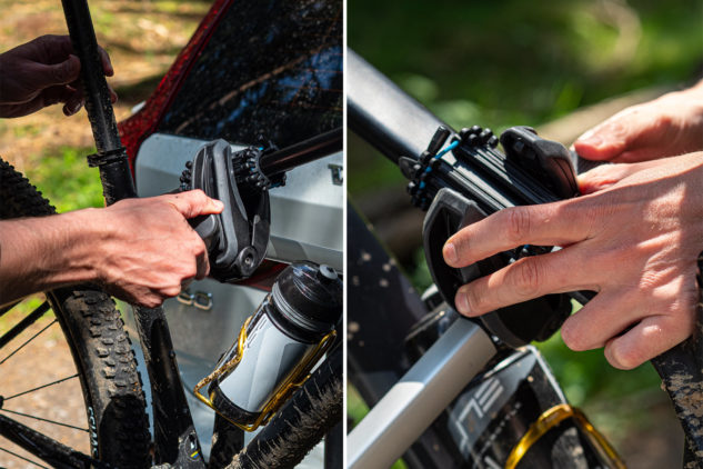 Upevnit kolo na nosič kol Thule EasyFold je hračka.