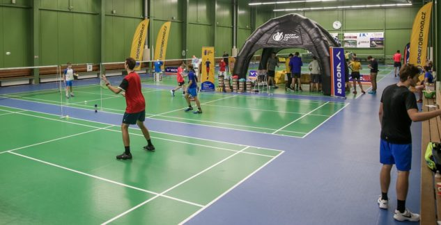 testování badmintonových raket Brno Sprint